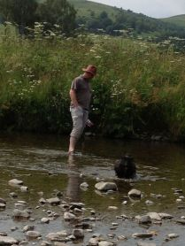 Paddling in the River Esk
