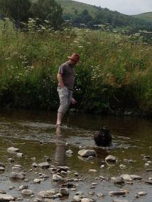 Paddling in the River Esk