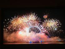 Fireworks above The London Eye